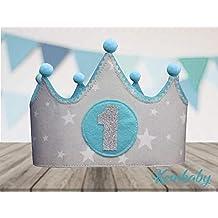 Corona tela primer cumpleaños 1 año para bebes niños y ...