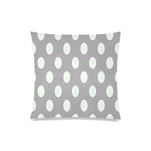 Grau Weiß Polka Dot Rechteck Sofa Home dekorativer Überwurf-Kissenbezug Baumwolle Polyester Twin Seite Druck 50,8x 50,8cm (Monster-truck-plüsch Werfen)