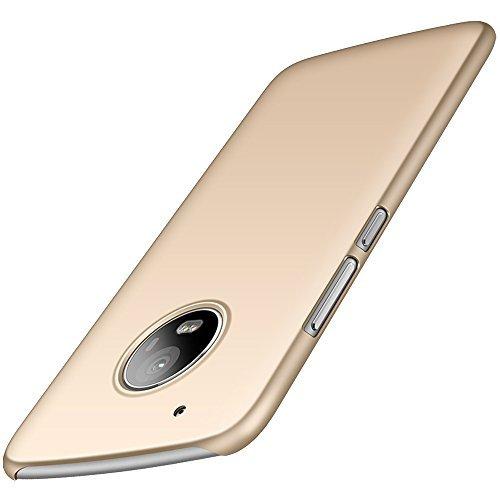Motorola Moto G5 Plus Hülle, Anccer [Serie Matte] (Glattes Gold)