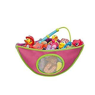 ANDAY Baby Bath Toys Organizer Corner Pouch Basket Children Triangle Storage Net Pink