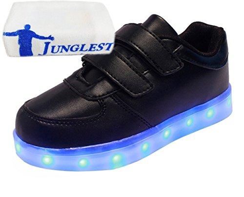 (Présents:petite serviette)JUNGLEST® Unisexe Enfant Filles Garçons a mené la Lumière Jusquà Formateurs de Sneakers Chaussures de Sport Chaussures Noir