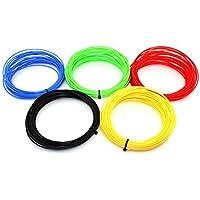URANUS™ 5 Colors x 10 Mtr Color 3D Pen Filament Refills 1.75 mm PLA Pack… (10 Meters, 5 Colors)