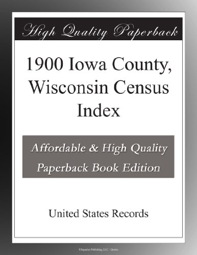 1900 Iowa County, Wisconsin Census Index (Wisconsin Iowa County,)