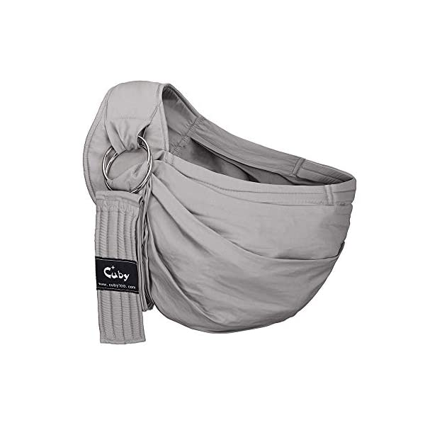 Cuby Baby Sling Wrap Carrier from Newborns to Todder Child (Gray) CUBY ★【HIGH-QUALITY MATERIALS】:It is made of 100% cotton. Lightweight and breathable, it is comfortable for the care. ★ 【SUITABLE AGE】:Suitable for babies 0-32 months and under 33 lbs. In addition, babies under 20 lbs will be more comfortable to use. ★【EASY TO ADJUST】:Our baby carrier is equipped with a multifunction sling ring that quickly adjusts the length of the sling so your child can carry it easily and safely. 1