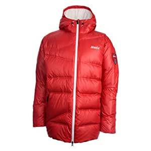 Swix avalanche down veste homme-rouge-taille s