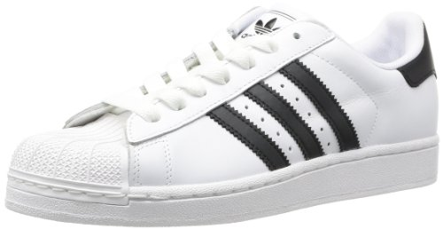 adidas Originals Superstar II G17068, Unisex-Erwachsene Low-Top Sneaker, Weiß (White/Black/White)