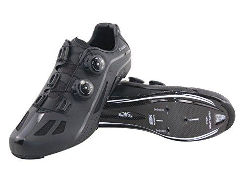 Raiko Sportswear HP1 Rennradschuhe Carbonsohle SPD-SL/Look Klickpedale Drehverschluss schwarz Größe 47