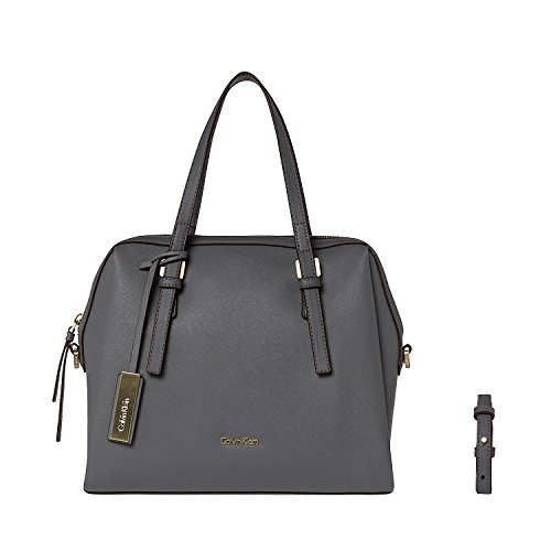 CALVIN KLEIN - Calvin klein borse donna marissa medium satchel k60k602111 Grigio