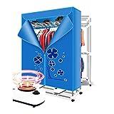 ZZP dryer Essiccatore Ad Aria Calda Portatile A 3 Strati Doppio Ospite Archiviazione Pieghevole Temporizzata Ad Asciugatura Rapida Ed Efficiente, 2400W, Blu