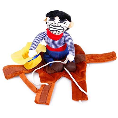 Händen Doll Kostüm - Bontand Cowboy Reiter Hundekostüm Haustier-Outfit Ritter-Art Mit Puppe Und Hut Für HHalloween Kostüm Haustier Lustige Kleidung