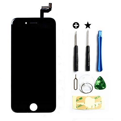 ent for Display Tocchscreen f¨¹r iPhone 6S Schwarz,Ersatz Bildschirm f¨¹r iPhone 6S Schwarz mit Werkzeug ()