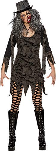 Killer Kostüm Zombie Womens - Ladies Nightmare Zombie Killer Halloween Horror TV Book Film Fancy Dress Costume Outfit (UK 4-6 (EU 32/34))