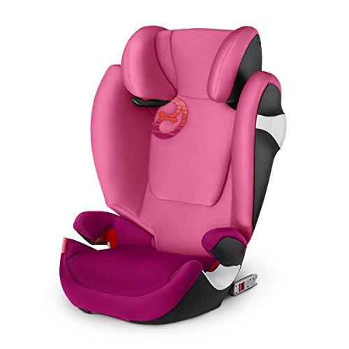Cybex Solution M-Fix - Silla de coche, grupo 2/3, color rosa