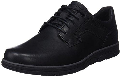Timberland Bradstreet Padded Collar Sensorflex, Zapatos de Cordones Oxford para Hombre, Negro (Jet Blank Escape), 47.5 EU