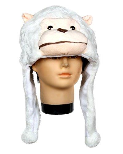 Petitebelle White Gorilla Warm Hat Halloween Costume for Unisex Children Adult (One Size)