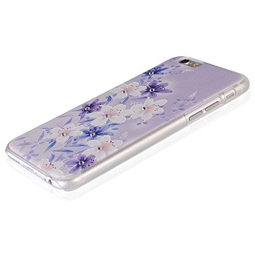 UKDANDANWEI Apple iPhone 5S Hülle Case - Bling Strass Ultra Dünn Hart PC Hülle Glitzer Rückseite Slim Etui Schale für Apple iPhone 5S -27 Bling-10