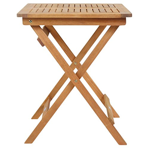 Charles Bentley Garden FSC Hardwood Furniture Square Foldable Patio Table