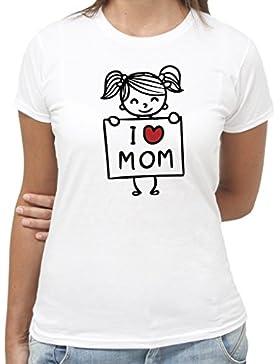 T-Shirt FESTA DELLA MAMMA IDEA REGALO AMO LA MIA MAMMA - by New Indastria