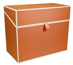 Private Karteibox orange +++ SAMMELBOX AUFBEWAHRUNGSBOX +++ SEMIKOLON Qualität