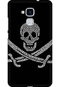 AMEZ designer printed 3d premium high quality back case cover for Huawei Honor 5C (Pirates Flag)