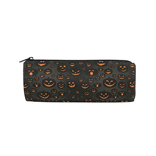 (Ahomy Federmäppchen, Halloween, Jack-O'-Lantern Stifttasche, Studenten, Schreibwaren, Aufbewahrungstasche, Make-up-Tasche für Frauen)