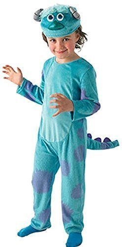 Fancy Me Disney Jungen Monsters Ag University Deluxe Sulley Blau Monster Halloween Büchertag Woche Kostüm Kleid Outfit 3-8 Jahre - Blau, 7-8 - Monsters University Kostüm