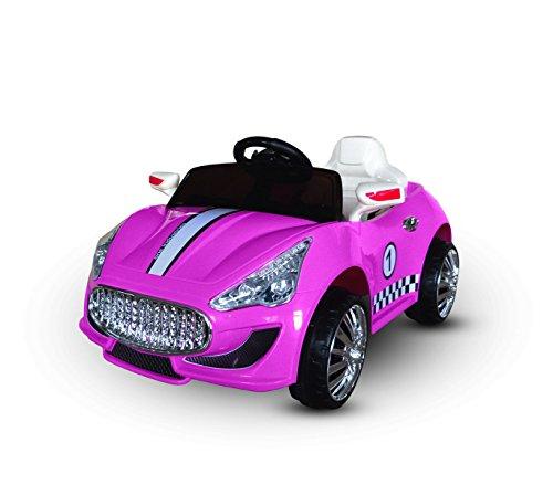 Macchina elettrica ROSA LT869 per bambini Auto sport monoposto 6V luci e suoni. MEDIA WAVE store ®