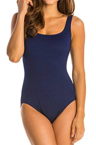 Damen Sport Badeanzug Sportlicher Schwimmanzug Sportbadeanzug Figurformend One Piece Swimsuit (Piece One Swimsuit Badeanzug)