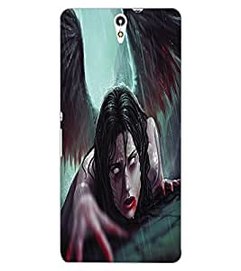 ColourCraft Dark Angel Design Back Case Cover for SONY XPERIA C5 ULTRA