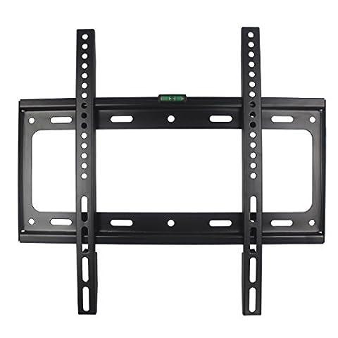 Support TV Mural Fixe Universel pour LCD LED écran Plat Plasma Moniteur 26 - 55 Pouce - Jusqu'à VESA 400mm×400mm et 50 kg