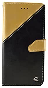 SMAZII Mobile Flip Case for Apple iPhone 6 Plus and 6S Plus (Gold)