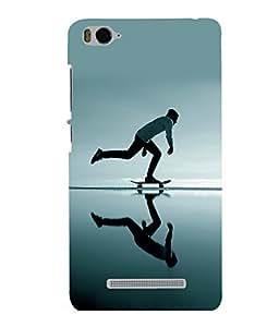 printtech Skateboard Man Mirror Back Case Cover for Xiaomi Redmi MI 4C::Xiaomi Mi 4C