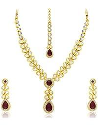 Sukkhi Fascinating Gold Plated Kundan Necklace Set For Women