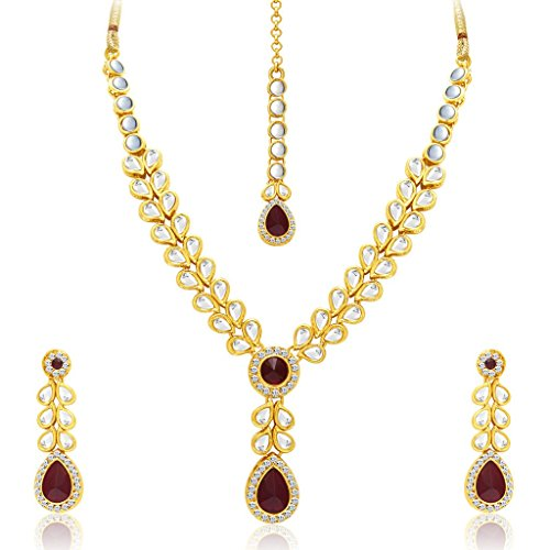 Sukkhi Fascinating Gold Plated Kundan Necklace Set For Women