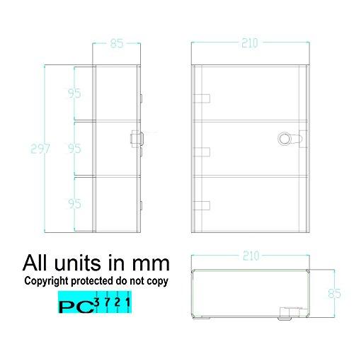 PC3721 1Klar Acryl Display Case mit Hochglanz Front Tür & Sicherheit Schloss db091-caba4