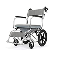 Wheelchair Aluminum alloy wheelchair with seat Elderly disabled wheelchair Bath chair