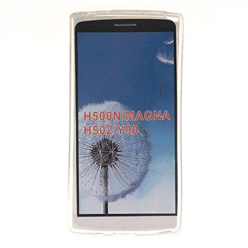 LG Magna H502F/H500F hülle MCHSHOP Ultra Slim Skin Gel TPU hülle weiche weiche Silicone Silikon Schutzhülle Case für LG Magna H502F/H500F - 1 Kostenlose Stylus (mandel blumen baum mit blauem hintergru Flagge der Vereinigten Staaten (Flag of the United Sta