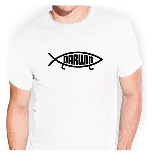 Darwin Fisch Atheisten T-Shirt tsf0057 - Kiwistar Sticker Bomb Tuning