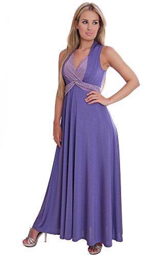 Langes Sommer Partykleid Lavendel Festlicher Anlass Gr 40