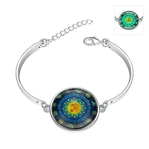 Boussole lumineuse Bracelet, plaqué argent