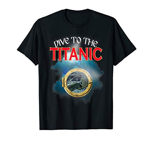 Titanic Diving Cruise Ship Atlantic Voyage Ocean Queen T-Shirt