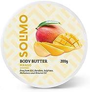 Amazon Brand - Solimo Body Butter - Mango - 200 gms
