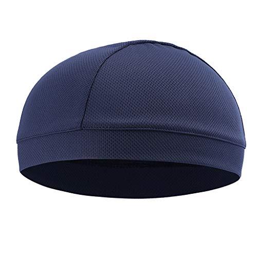 IPOTCH Funktionsmütze Jagd-Kappen Mütze unter Helm Kopfbedeckung für Fahrrad Helm Laufen Ski-Fahren Joggen Outdoor-Aktivitäten - Dunkelblau (Ski-mütze Für Unter Den Helm)
