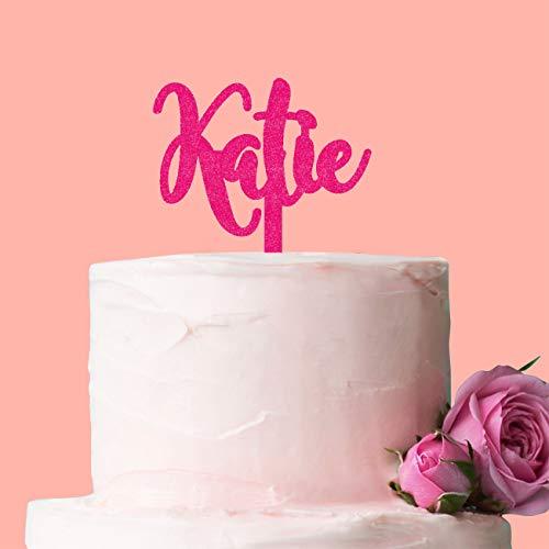 Personalisierte Namen Cake Topper, perfekt für einen Geburtstag oder besonderen Anlass, für, dass jemand ganz besonderen. rose