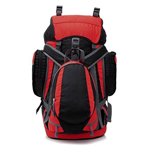 Grande Capienza Impermeabile Alpinismo Outdoor Camping Camminare A Piedi Spalle Buns Borse Borse Steel Frames Tent Bags,Blue Red