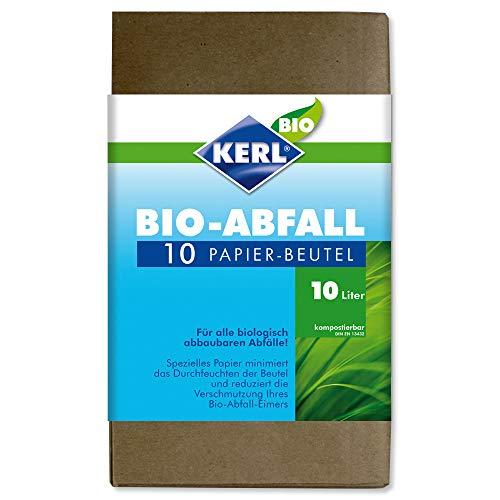 KERL Bio-Abfallbeutel, Papier 10 l, 10 Stück Glas Serveware