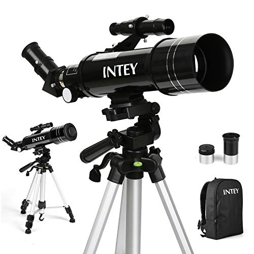 INTEY Télescope Astronomique F400mm, Grossissement (67X, 16X)...