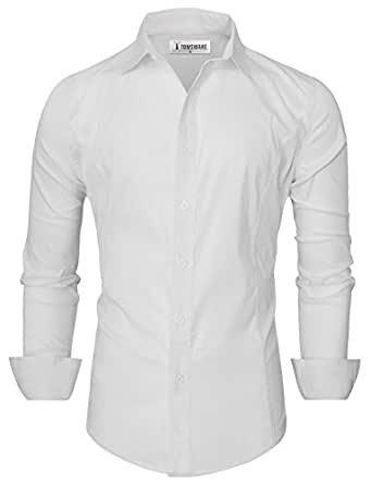 Tom's Ware Chemises habillees-Hommes TWCS05-WHITE-M( US XS/S)