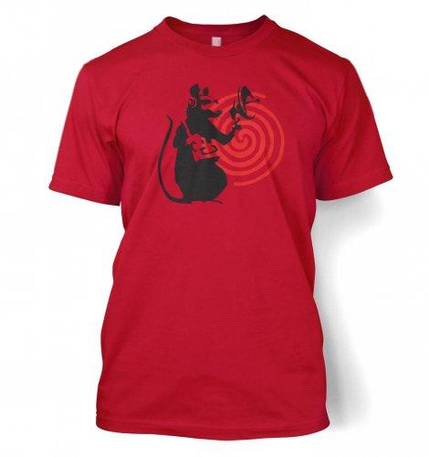 Radarratte Banksy Männer T-Shirt Rot