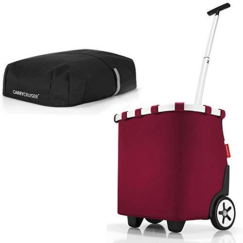reisenthel Angebot Einkaufstrolley carrycruiser Plus gratis Cover Abdeckung und Sichtschutz! (Dark Ruby)